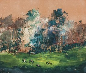 Tato - Landscape With Polo Players