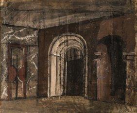 Mario Sironi - Monumental Interior, 1937 - 40 Ca.