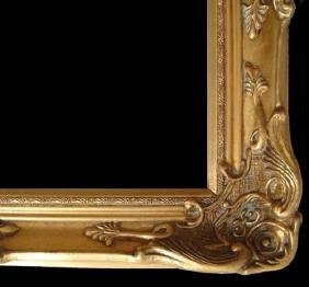 """Wood Picture Frame Ornate Antique Gold 24"""" X 36"""" #13"""