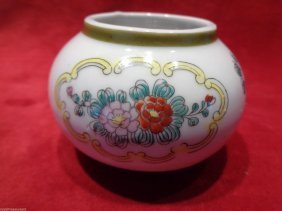 Asian Bowl With Floral Design