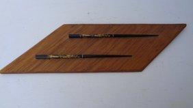 Vintage Japanese Black Chopsticks