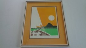 G. Clark Sealy's (1955 B) Original Etching In Colors