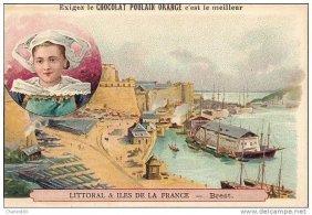 Chromo Chocolat Poulain Orange Coast And Islands France