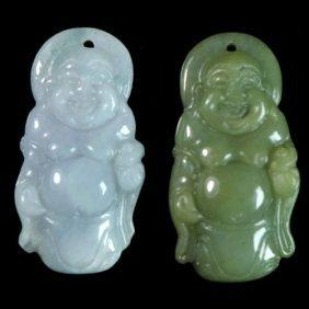 100% Natural Grade A Jade Jadeite Buddha Amulet Pendant
