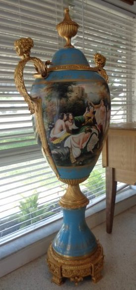 Porcelain Gilt-bronze Mounted Hand Painted And Signed