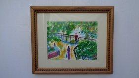 Robert Sundholm Central Park Ny Acrylic Framed