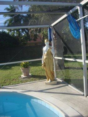 Life Size Fiberglass Standing Lady Statue
