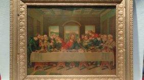 La Sainte Cene - The Lord Supper Antique Lithograph