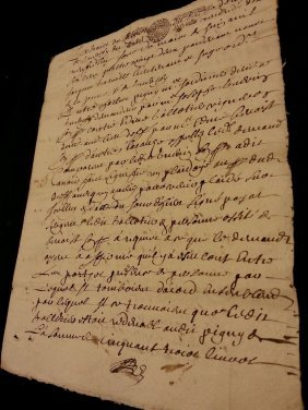 1682 Antique French Document