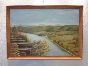 M. P Sheffield Signed Landscape (alabama) Oil