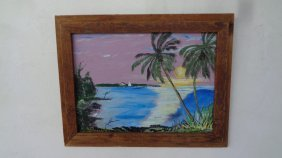 Original Plein Air Florida Keys Painting (sundown)