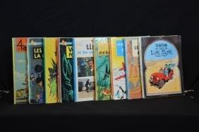 Ensemble De 9 Bandes Dessinées Tintin: Différents