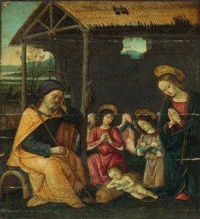 Umbrische Schule, Um 1490: Die Geburt Christi