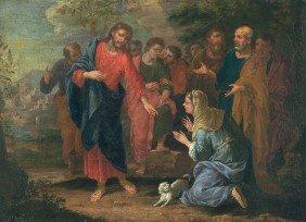 Augsburg, Um 1680: Christus Und Die Samariterin .