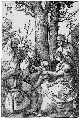 D�rer, Albrecht: Die Hl. Familie Mit Joachim Und