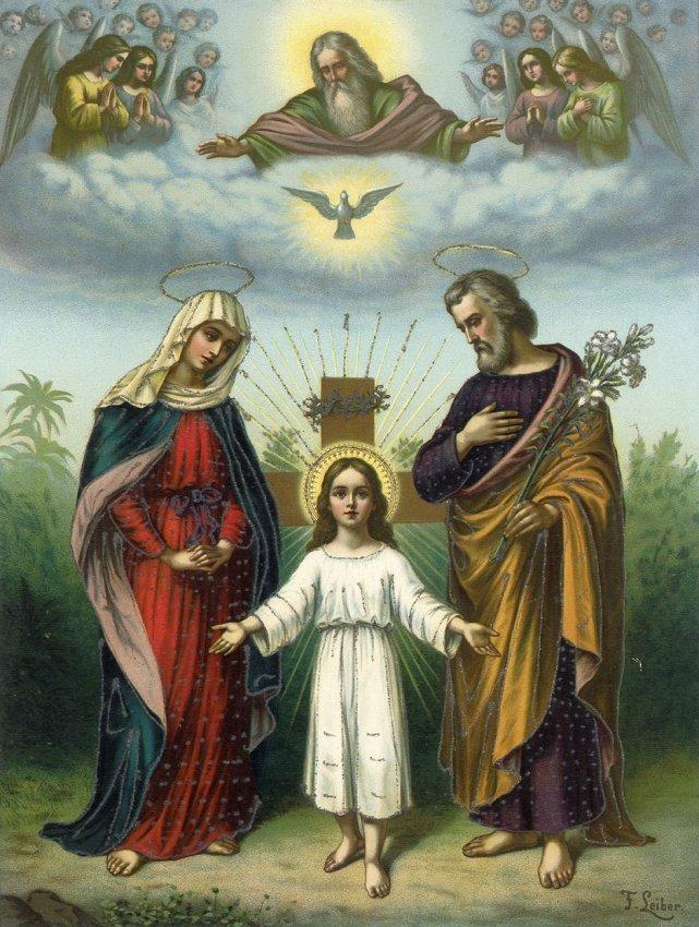 Andachtsbilder Jesus Maria Und Josef Lot 200