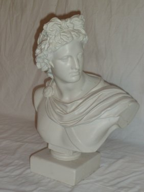 Plaster Bust Of Roman/greek Emperor