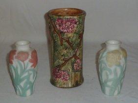 Weller Forest Vase & 2 Phoenix Bittersweet Vase