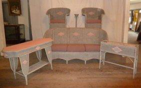 Vintage Six Piece Wicker Set