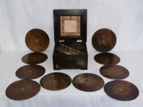 """Symphonion Disc Music Box 10"""" Discs"""