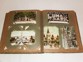 Vintage Post Card Album Coney Island Etc.