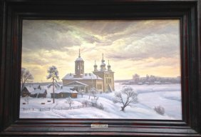 """Russian Painting """"town Of Muron"""" V. G. Poradochnov"""