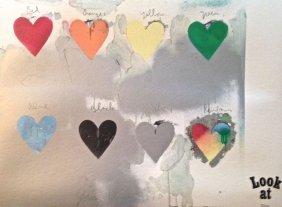 "Jim Dine (american B. 1935) ""hearts"" 1970"