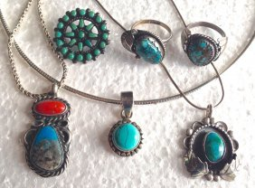 American Indian Turquoise Jewelry Collection (6)