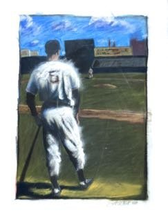 "Baseball Painting, ""on Deck"" Scott Hunt"