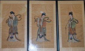 Three Paintings Of Lady Figure