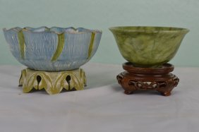 Jade Bowl & Glass Bowl