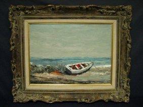 EDWARD ROYDON ABBOTT Painting Beached Rowboat