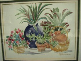 FANNIE JOHNSON STILL LIFE WATERCOLOR
