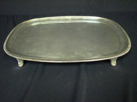 BRITISH STERLING FOOTED TRAY