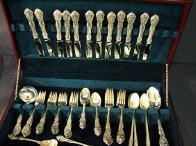 GORHAM KING EDWARD STERLING FLATWARE 61 PCS