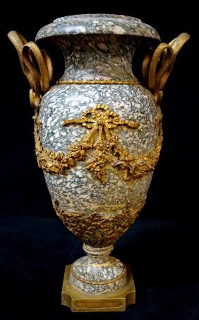 Bronze Mounted Marble Urn