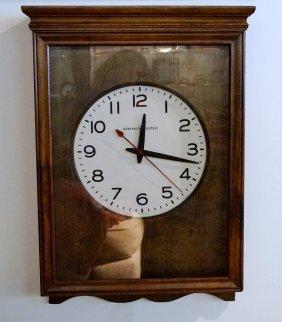 General Electric Oak Wall Clock