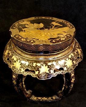 Asian Lacquer Tabouret