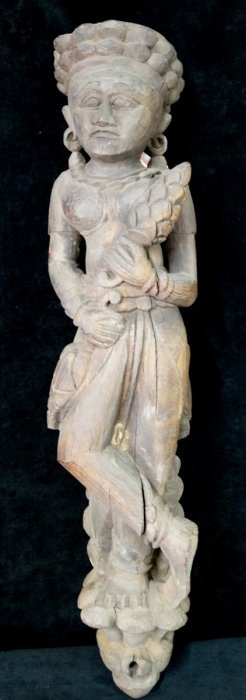 Asian Carved Wood Figure