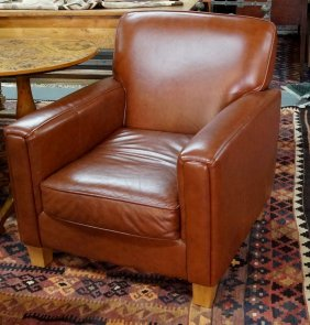 Pr. Leather Club Chairs
