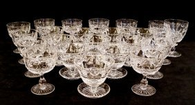 23 Pc. Crystal Stemware (waterford?)