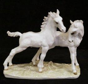 Hutchenruther Porcelain Horse Group