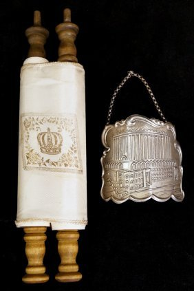 Torah W/ Sterling Silver Breast Plate