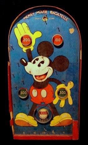 Disney's Mickey Mouse Bagatelle Game C. 1935