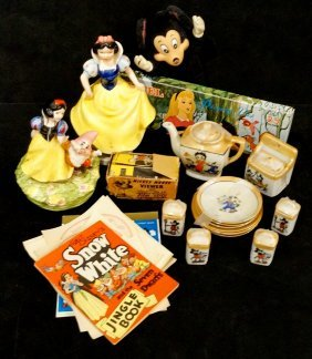 Lot Disney Inc. Betty Boop, Snow White & Mickey Mouse