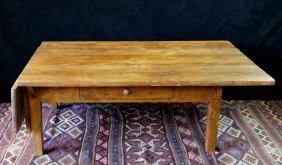 19th C. Pine Coffee Table