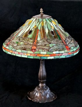 Contemporary Dragonfly Motif Table Lamp