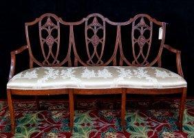 18/19th C. Mahogany Hepplewhite Chairback Settee