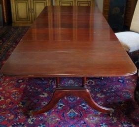 Regency Style Mahogany Dropleaf Dining Table W/ 3