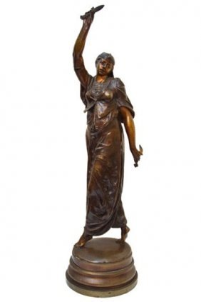 European Bronze Figure Turkish Dancer Sculpture